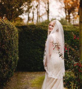 Rachel in Bespoke Helen Rhiannon. Photography by Andy Gaines.
